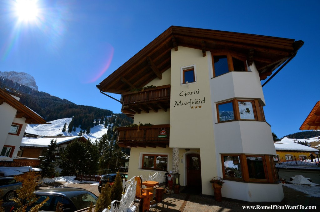 My hotel. Stay there if you go to Selva. It was nice, the owner was nice, the breakfast was nice. What more do you want out of life.