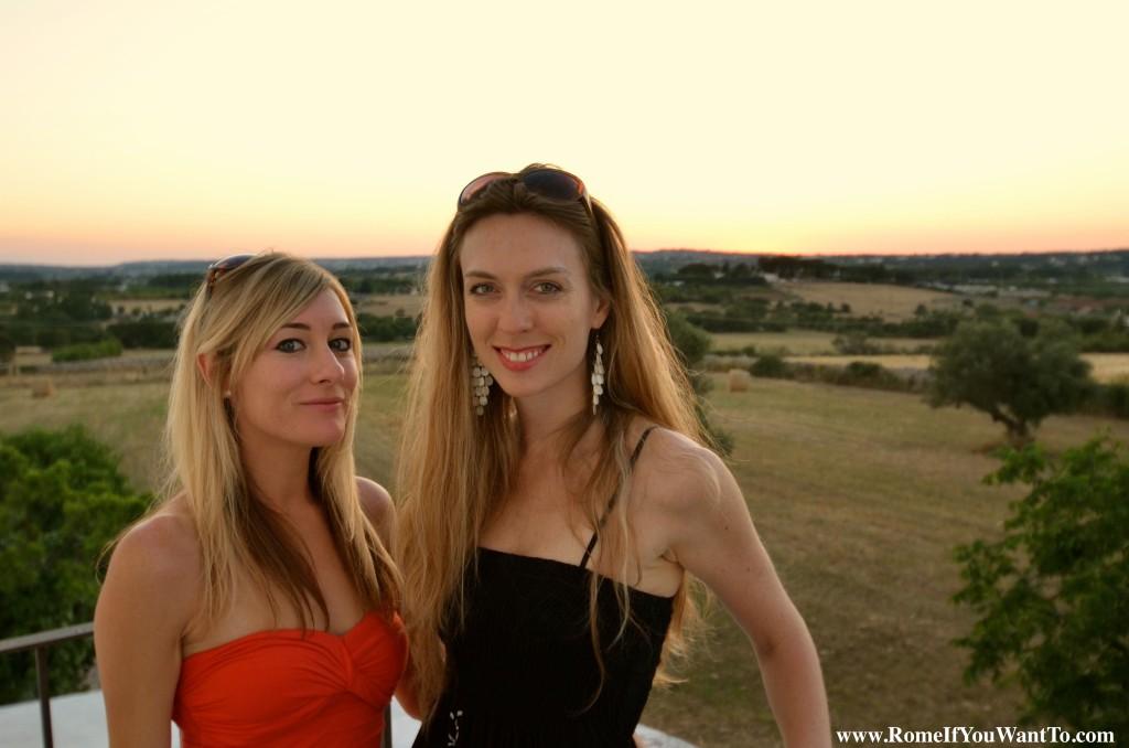 With Cara in Puglia.