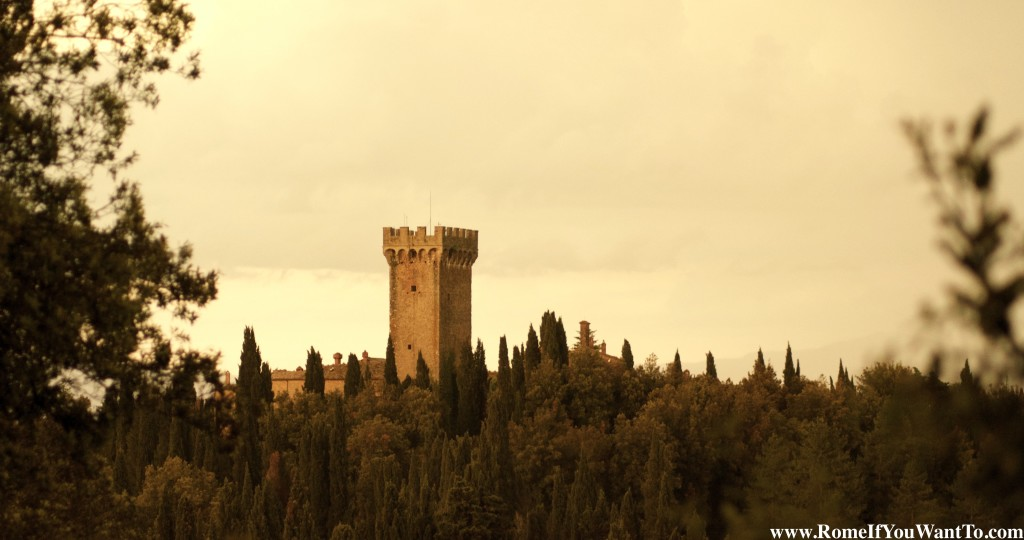 Castello di Gargonza, from the road leading up to it.