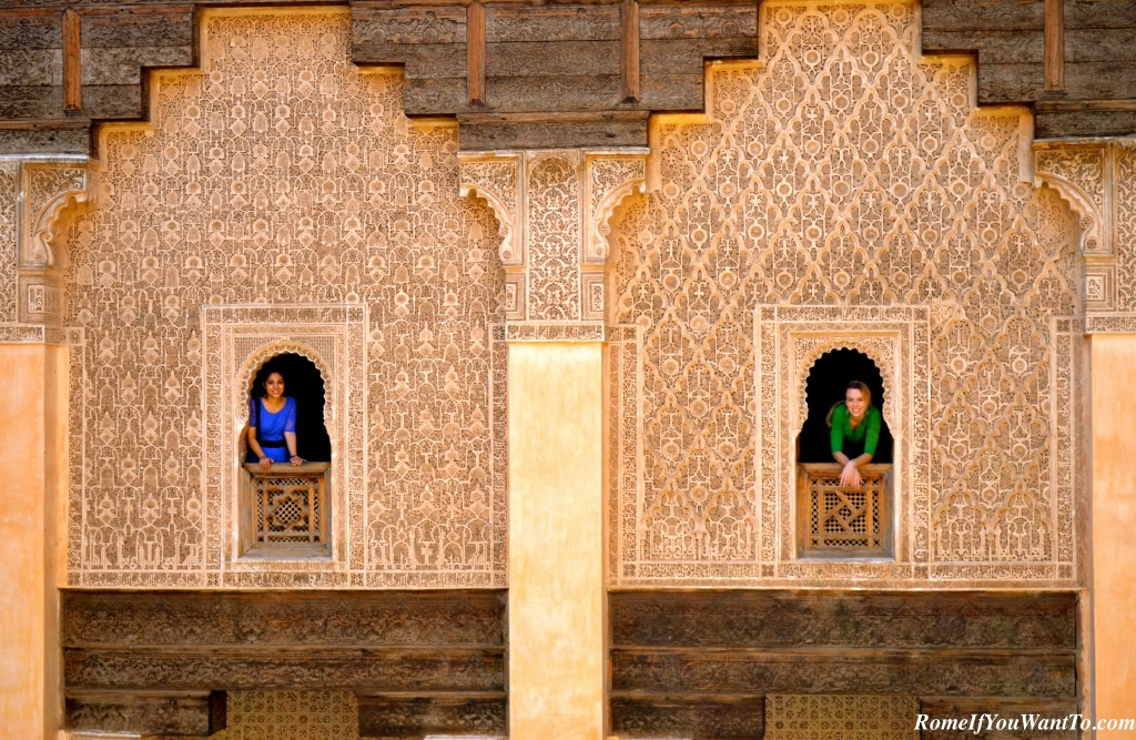 Seema and me in the Madrasa Ben Youssef