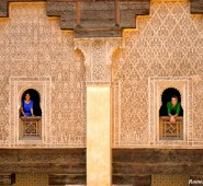 Seema and me in the Madersa Ben Youssef