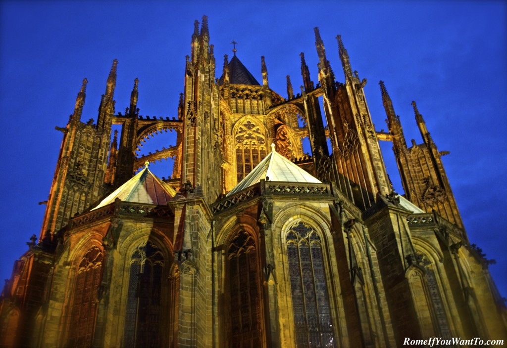 The cathedral inside Prague Castle