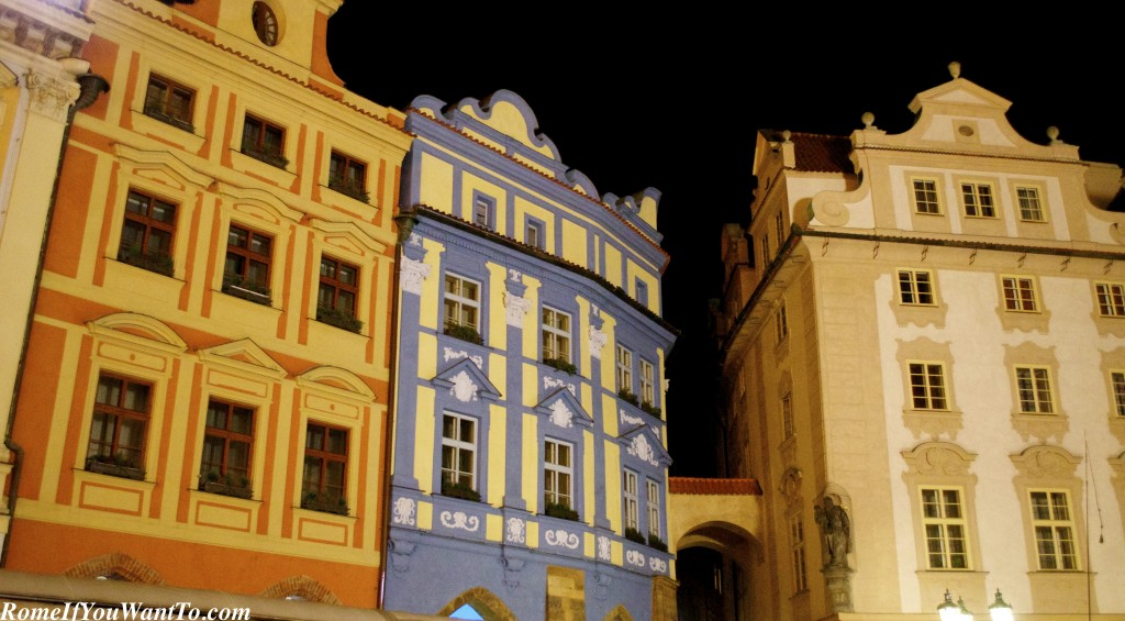 Mala Strana, Prague, by night.