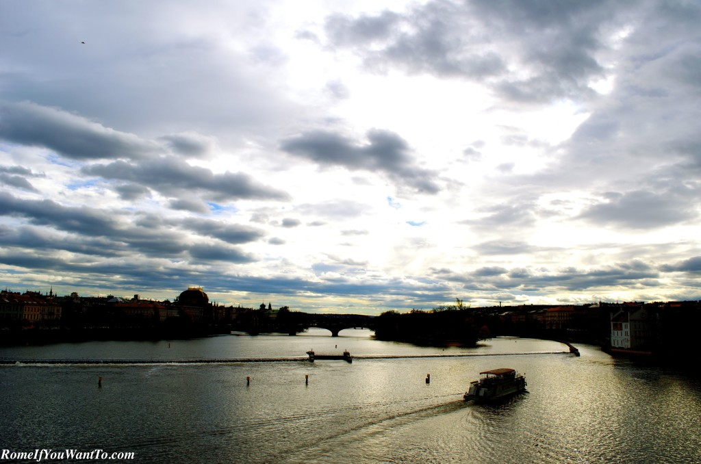 The Vltava River, seen from the Charles Bridge