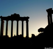 The Roman Forum, Sunset