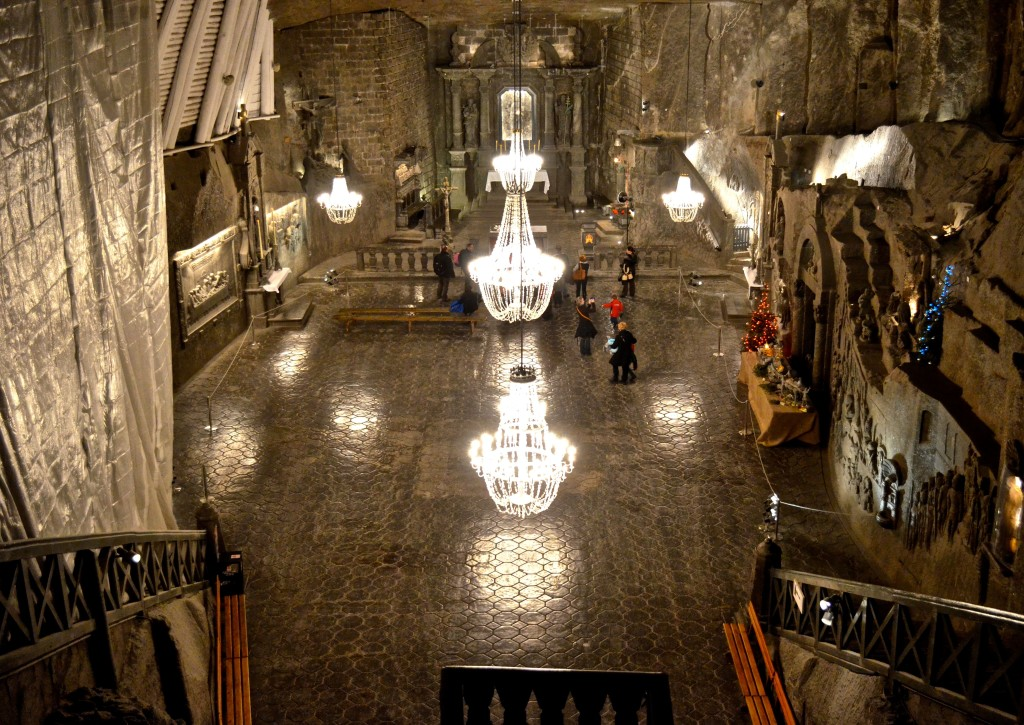 The great hall in the Salt Mine. Weddings and other events are held here.