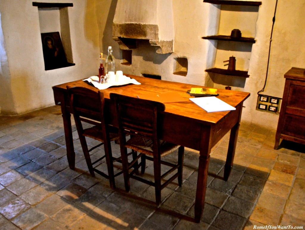 The dining room of my suite at the Albergo Diffuso di Sextantio.