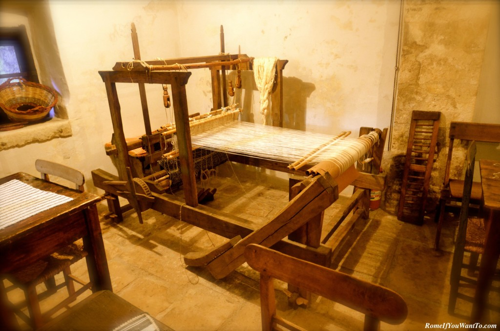 A real loom(!) in the tea house. Items made by the loom were available for purchase.