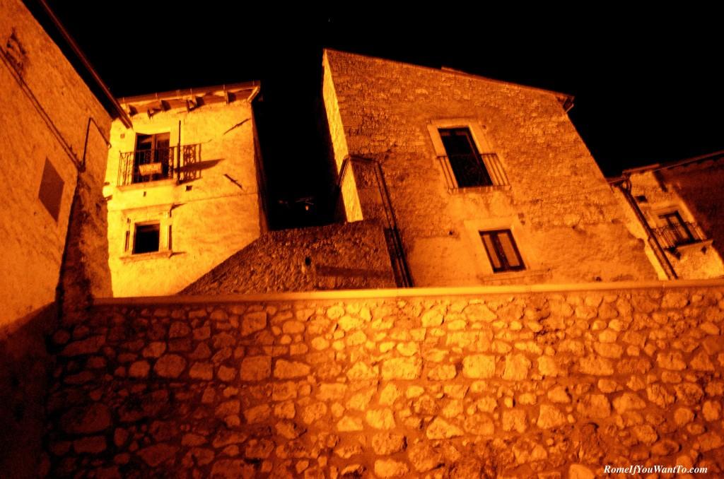 Santo Stefano at night.