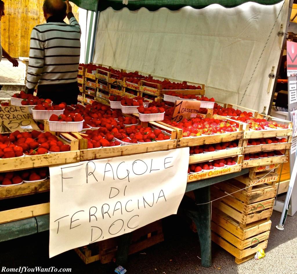 Artichoke festival Sagra del Carciofo Ladispoli Italy Strawberries