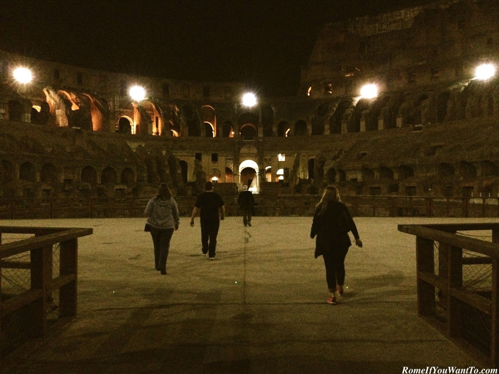 Colosseum at Night Rome Tour
