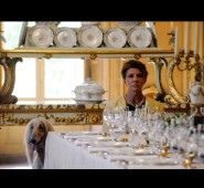 A shot from the movie, filmed in Palazzo Sacchetti's dining room. Photo: espresso.repubblica.it.