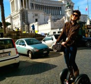 Your pal Liz, enjoying her very first minute on the Segway, in Piazza Venezia