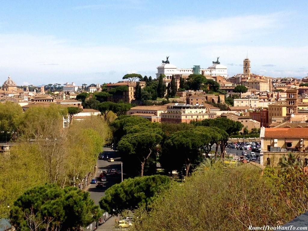 The view from the Giardino degli Aranci