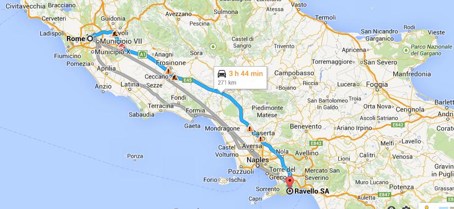 Rome to Ravello