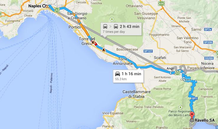 Naples to Ravello
