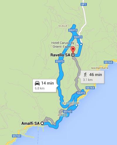 Amalfi to Ravello